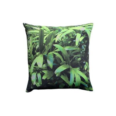 Zingy Palm Print Square Cushion Large