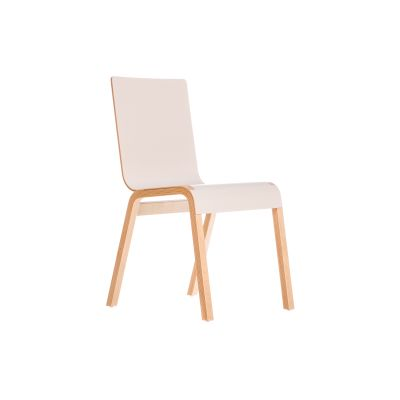 Zipper Stacking Chair White