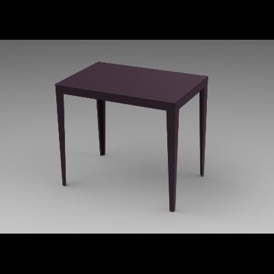 Zonda Aluminium Rectangular Table White - 01 RAL 9016, 180x65, Tapered Legs