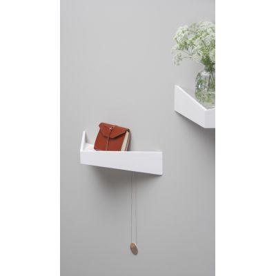 Pelican Shelf with hidden hooks White, Medium