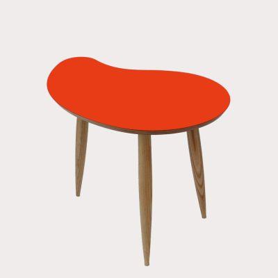 Comma Side Table Comma Table in Orange
