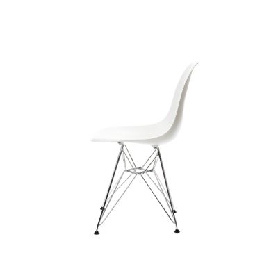 DSR Side Chair 30 Basic dark powder-coated ,01 Basic dark ,05 Felt glides basic dark for hard floor