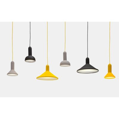 Torch Pendant Light - S1, Cone Yellow Shade with Yellow Cable