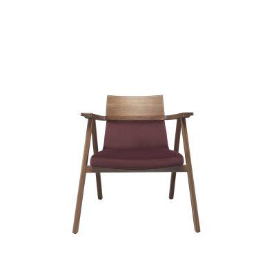 Pensil Lounge Chair Oak Natural, Lana 007 Canary