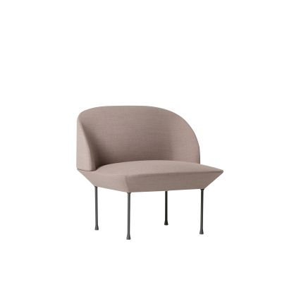 Oslo Lounge Chair Skai Parotega NF amethyst, Dark Grey