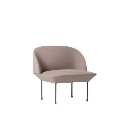 Oslo Lounge Chair Skai Parotega NF amethyst, Dark Grey