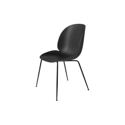 Beetle Dining Chair - Conic Base Plastic Black, Frame Matt Black