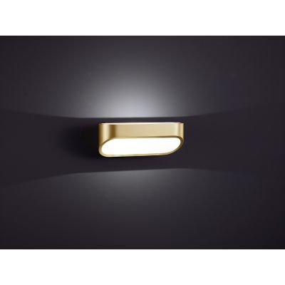 Onno Wall Light Brass Mat - White Mat