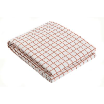 Grid Tablecloth Grid Peach