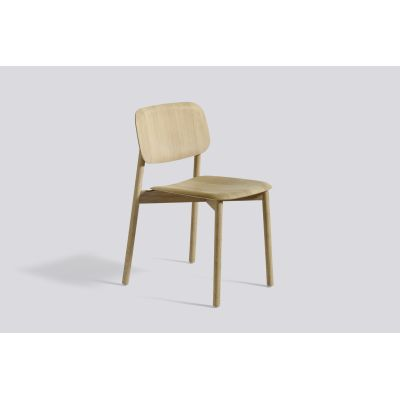 Soft Edge 12 Dining Chair with Wood Frame Matt Seat and Back, Matt Lacquered Frame