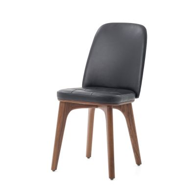 Utility Highback Chair Wood Walnut Stained Ash, Hallingdal 65 166