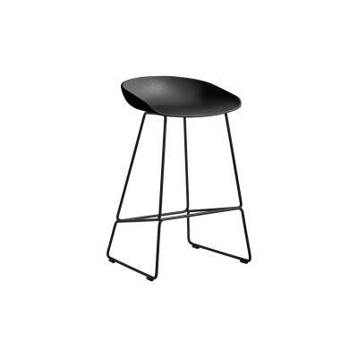 About A Stool AAS38 Black Seat and Black Base, Low