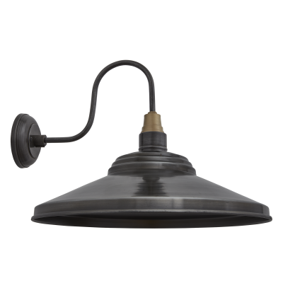 Swan Neck Giant Step Wall Light - 18 Inch Swan Neck Giant Step Wall Light - 18 Inch - Pewter