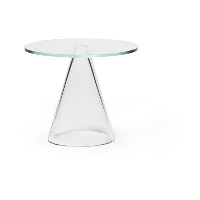 Sander Table, Round Clear Glass