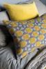Zellij Cushion Ash Grey & Chartreuse