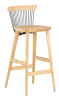 WW Bar Stool - Oak & Black - Profile