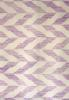 purple geometric rug close up
