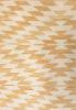 yellow gold geometric rug close up