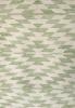 green geometric rug close up