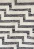 monochrome geometric rug close up