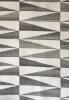 grey geometric rug close up