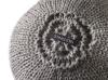 Knitted Ball Cushion in Grey by Stine Leth for Korridor
