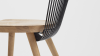 WW Dining Chair - Oak & Black - Detail