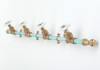 Coat Rack Single (Blue/White)