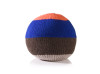 Knitted Ball Cushion in Medium Blue by Stine Leth for Korridor