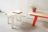 Pi Stool - Snow White with Switch Bench 01 Foxy Orange