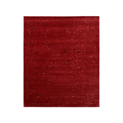 4-Minute Rug - Twister red by REUBER HENNING