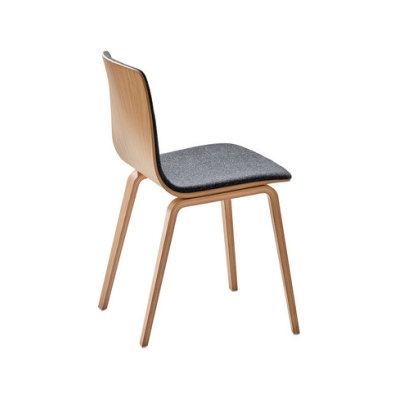 Aava Natural Birch Dining Chair by Arper