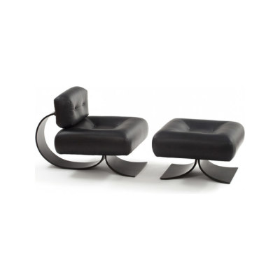 Alta Lounge Chair with Ottoman by Espasso