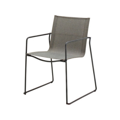 Asta Stacking Chair with Arms by Gloster Furniture