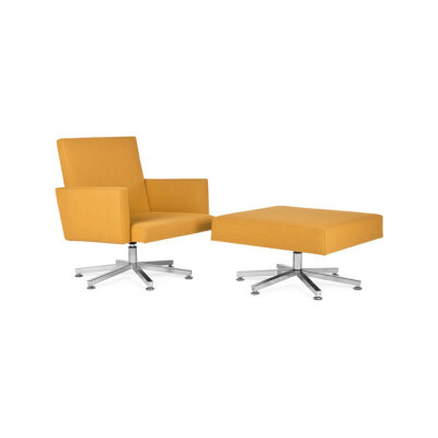 AVL SPR Cathedra Armchair with Footstool by Lensvelt