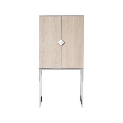 Biri C03 Oak White Wash Cabinet Stainless Steel Gloss