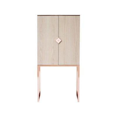 Biri C03 Oak 2448 Cabinet Copper Gloss