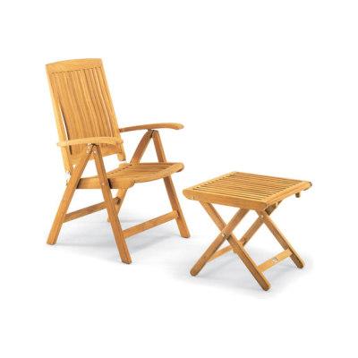Burma armchair adjustable with footrest by Fischer Möbel