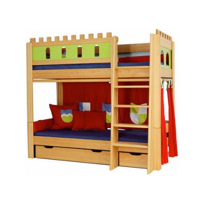 Castle Bunk bed with a guard DBA-208.9 by De Breuyn