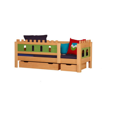 Castle Knight bed with drawers DBA-208.7 by De Breuyn