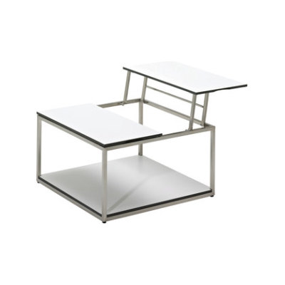 Cloud 75 x 75 Dual Height Coffee Table by Gloster Furniture