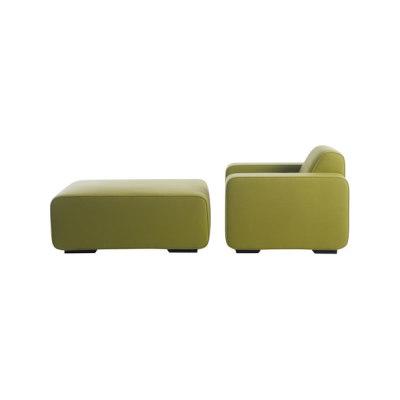 Cream Armchair | Pouf by Palau