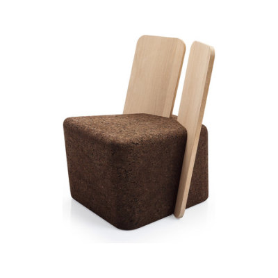Cut Lounge Chair by Blackcork