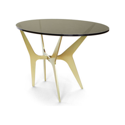 DEAN Oval Side Table - Brass by Gabriel Scott