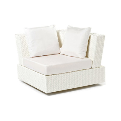 Domino garden corner chair by Varaschin