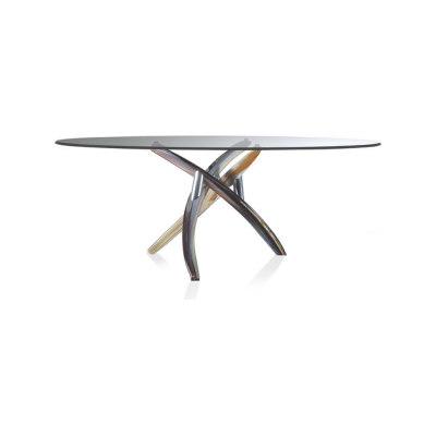 Fili d´erba 72 by Reflex, Chromed Legs Diameter 140 cm