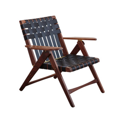 Folding Lounge Chair Walnut by Todd St. John