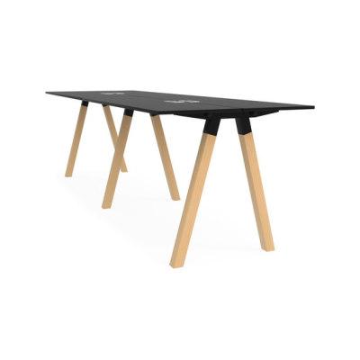 Frankie bench desk high wooden A-leg 110cm by Martela Oyj