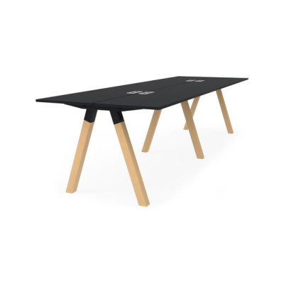 Frankie bench desk high wooden A-leg 90cm by Martela Oyj