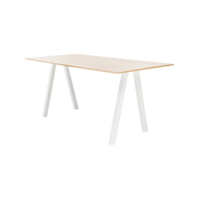 Frankie conference table high A-leg 110cm wood by Martela Oyj